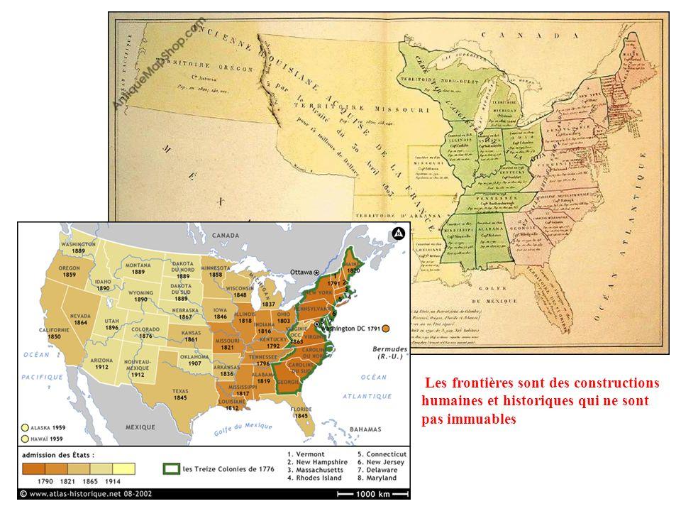 Cette frontière sépare deux États : comment ? Frontière naturelle : le Rio Grande Frontière humaine rectiligne