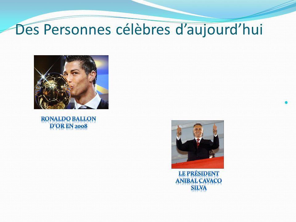 Des Personnes célèbres daujourdhui