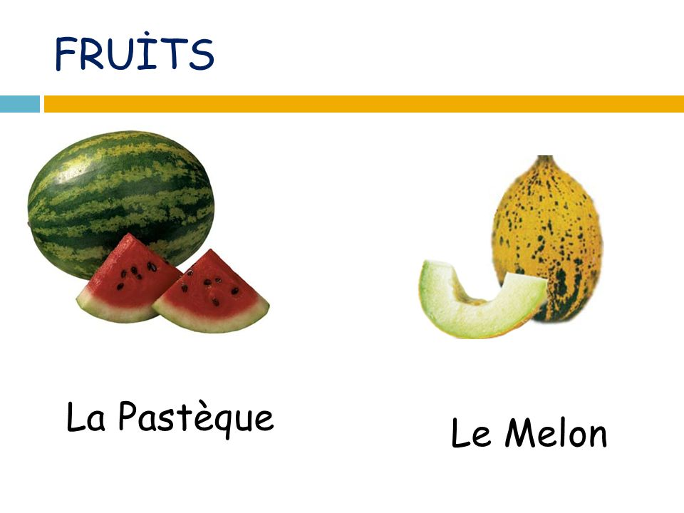 FRUİTS La Pastèque Le Melon