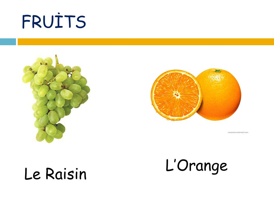 FRUİTS Le Raisin LOrange