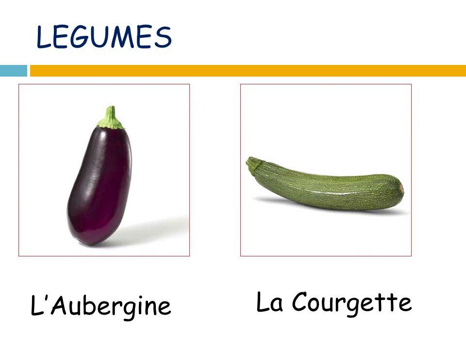 LEGUMES LAubergine La Courgette