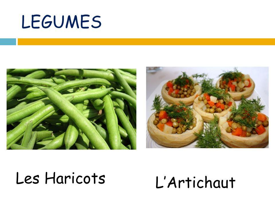 LEGUMES Les Haricots LArtichaut