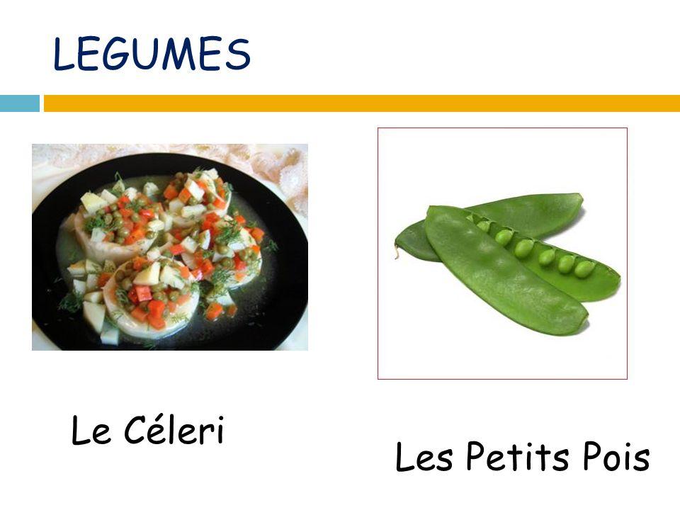 LEGUMES Le Céleri Les Petits Pois