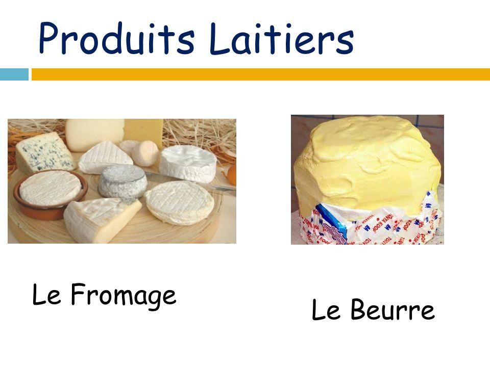 Produits Laitiers Le Fromage Le Beurre