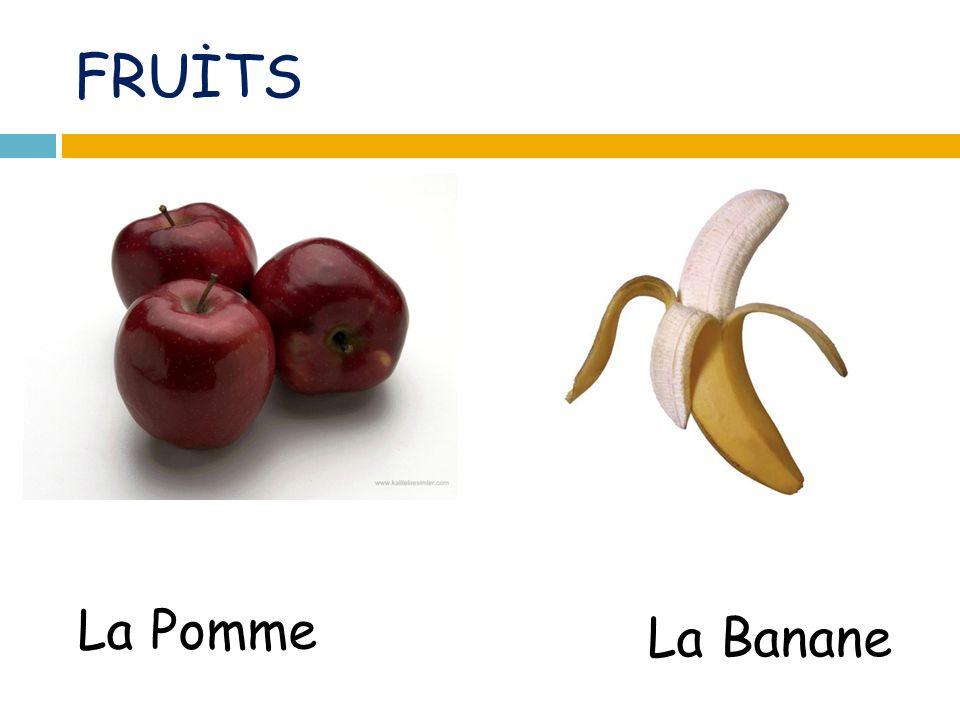 FRUİTS La Pomme La Banane