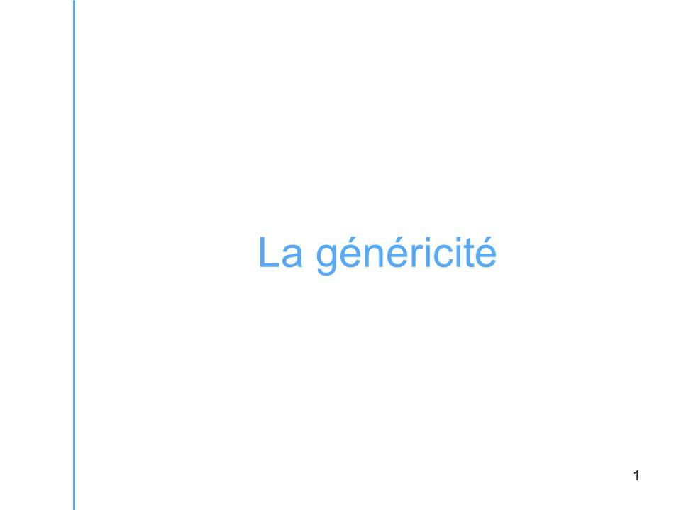 1 La généricité