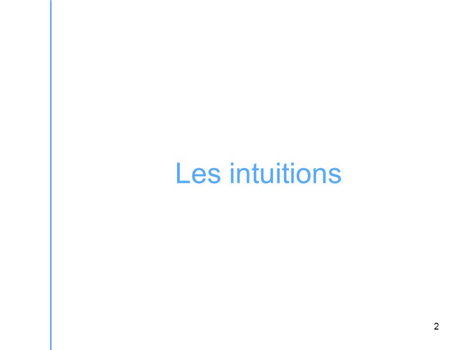 2 Les intuitions