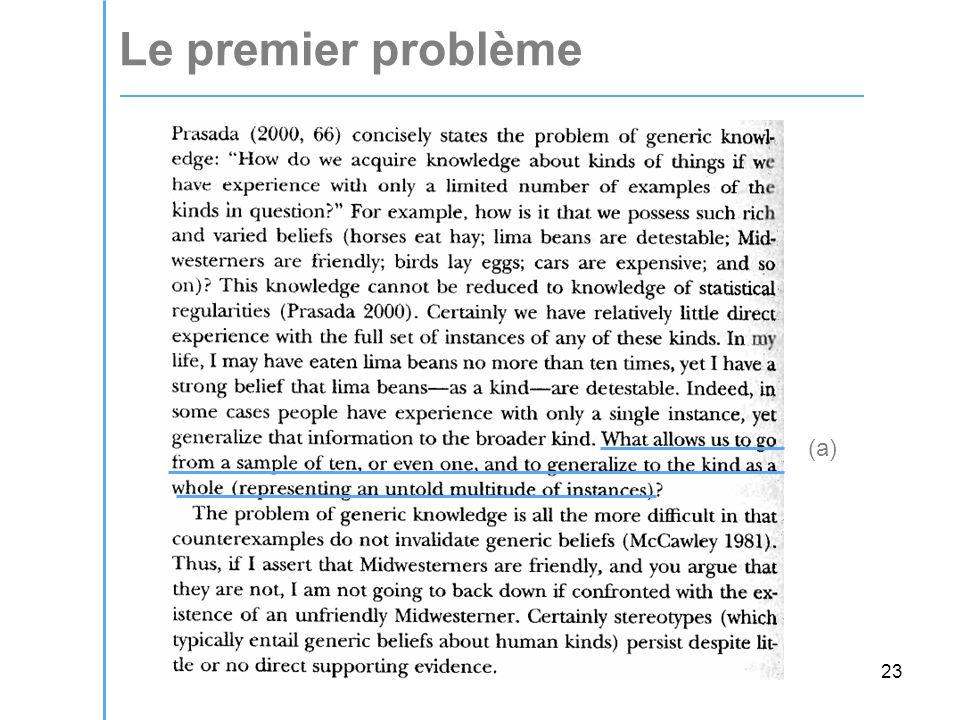 23 Le premier problème (a)