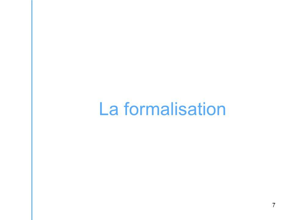 7 La formalisation