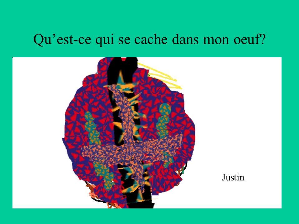 Quest-ce qui se cache dans mon oeuf? Justin