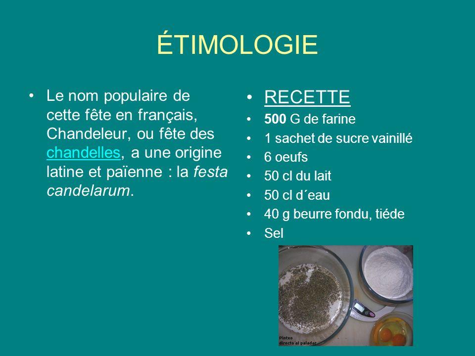 ÉTIMOLOGIE Le nom populaire de cette fête en français, Chandeleur, ou fête des chandelles, a une origine latine et païenne : la festa candelarum. chan