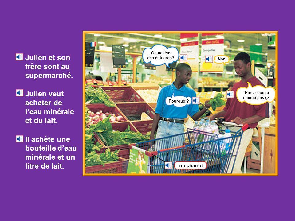 Ariane est au marché. Elle veut acheter des légumes. Elle va chez la marchande de fruits et légumes. un kilo = 1 000 (mille) grammes une livre = 500 (