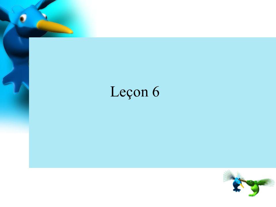 Leçon 6