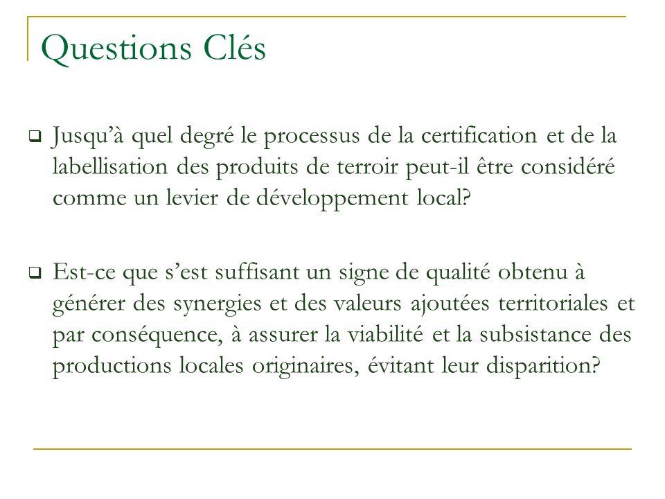 Questions Clés Jusquà quel degré le processus de la certification et de la labellisation des produits de terroir peut-il être considéré comme un levie