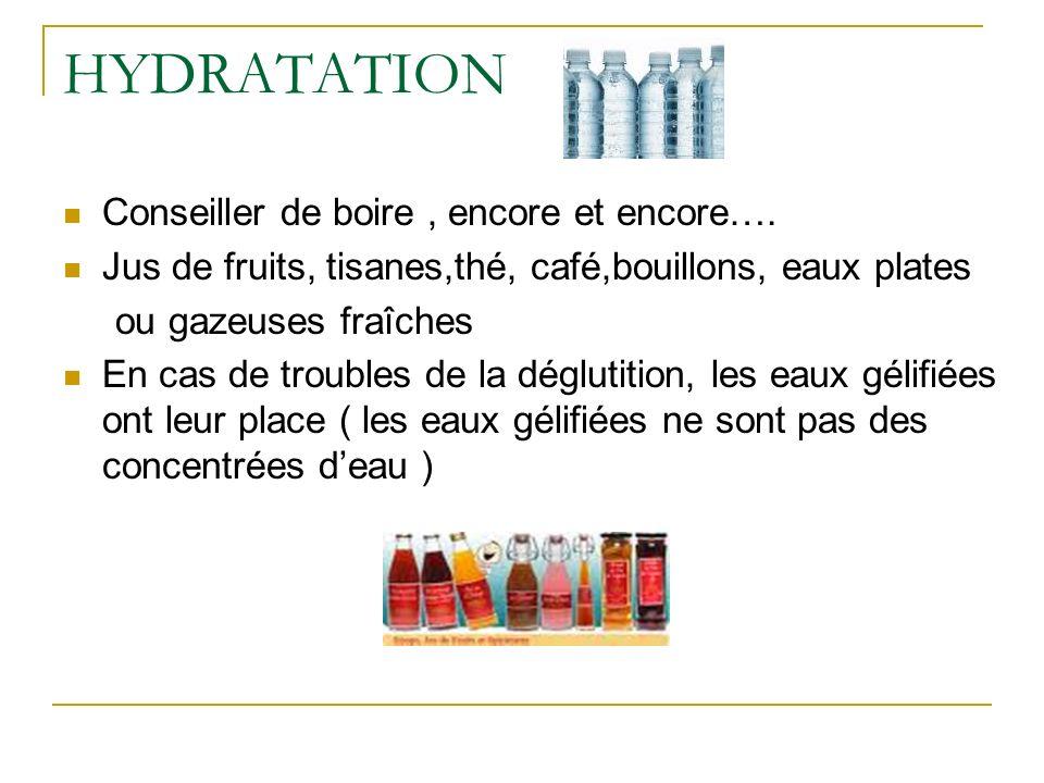 HYDRATATION Conseiller de boire, encore et encore….