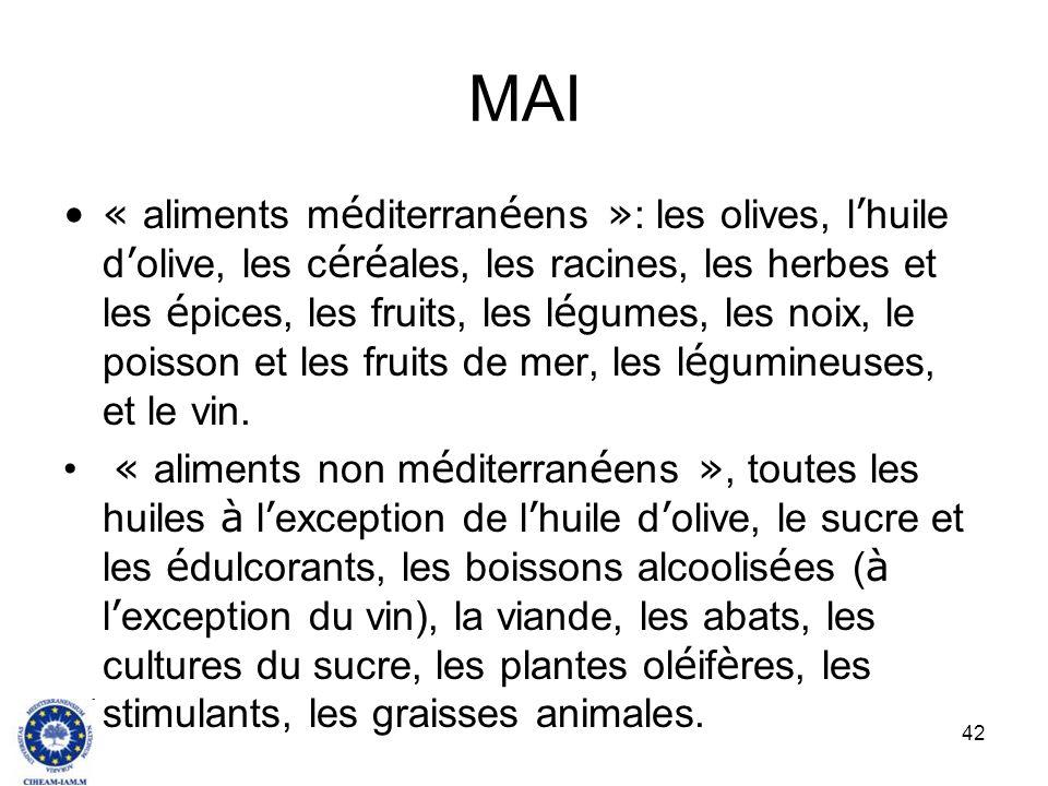 42 MAI « aliments m é diterran é ens » : les olives, l huile d olive, les c é r é ales, les racines, les herbes et les é pices, les fruits, les l é gu