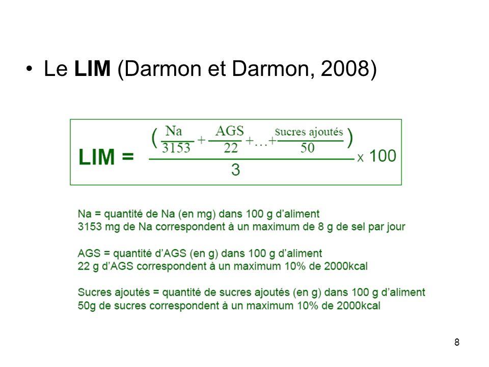 8 Le LIM (Darmon et Darmon, 2008)