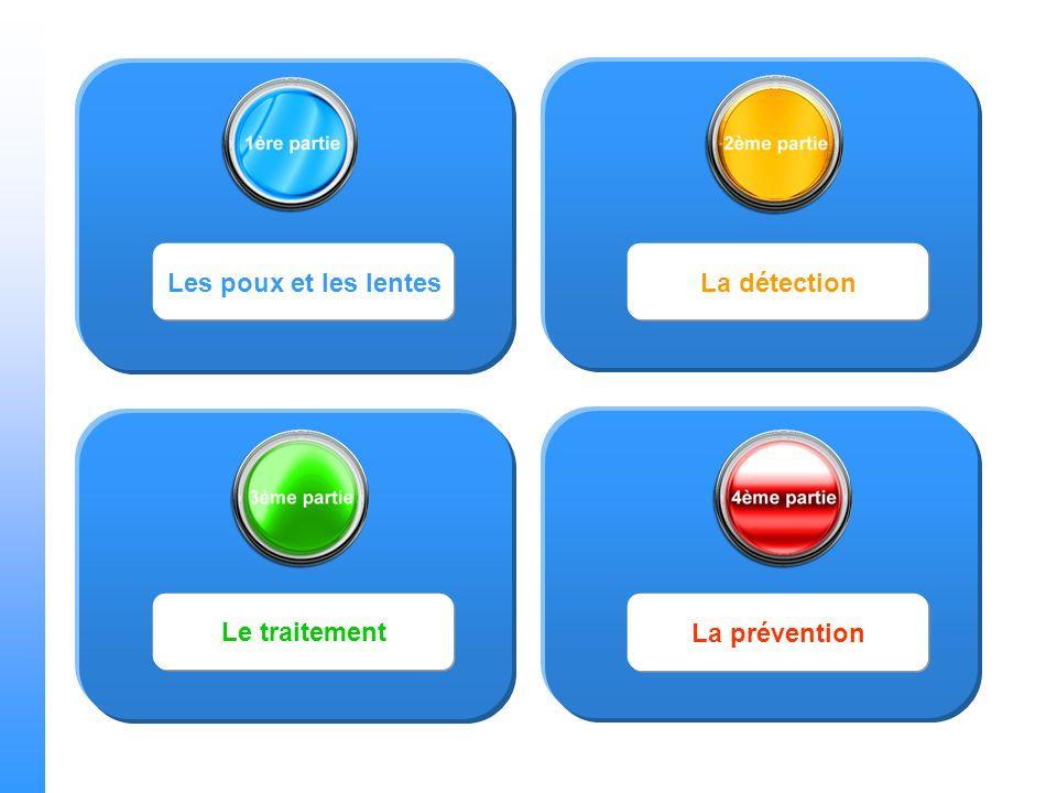 Les poux et les lentesLa détection Le traitement La prévention