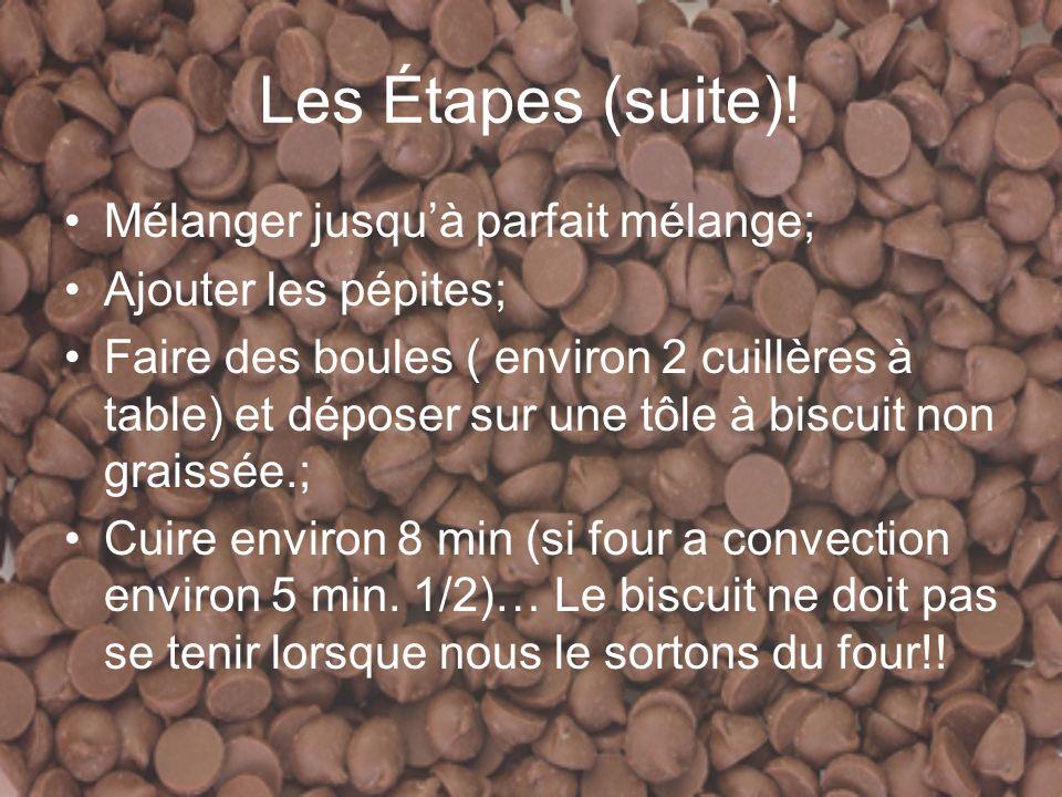 Les Étapes (suite).