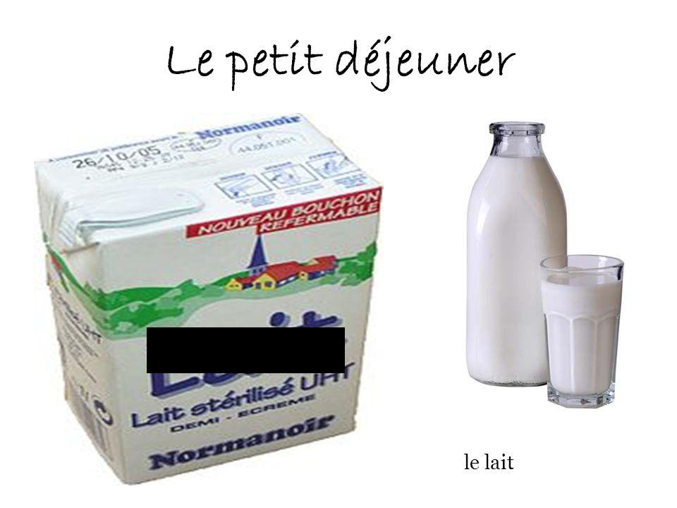 Le petit déjeuner le lait