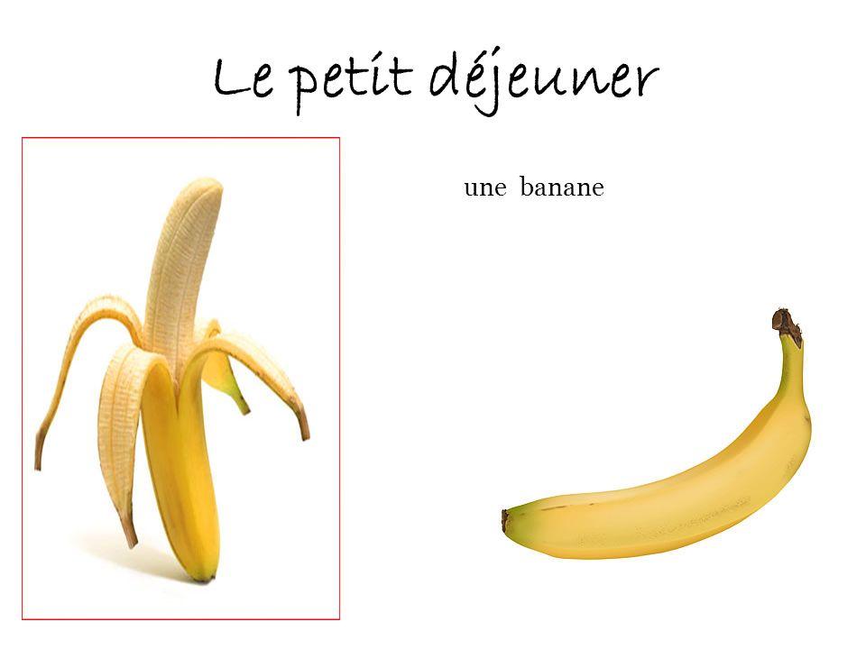 Le petit déjeuner une banane