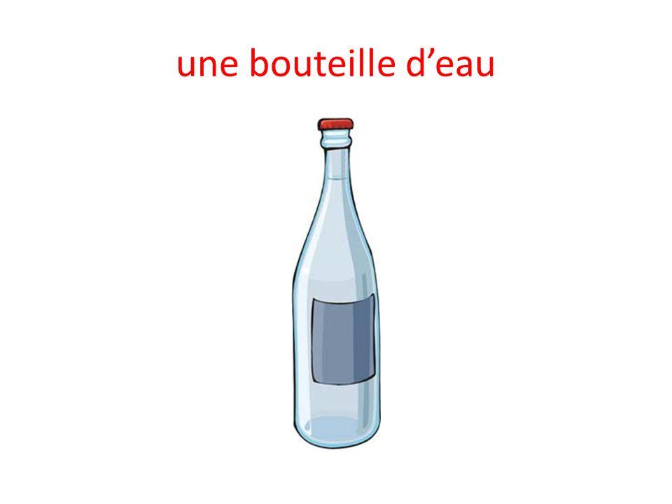 une bouteille deau