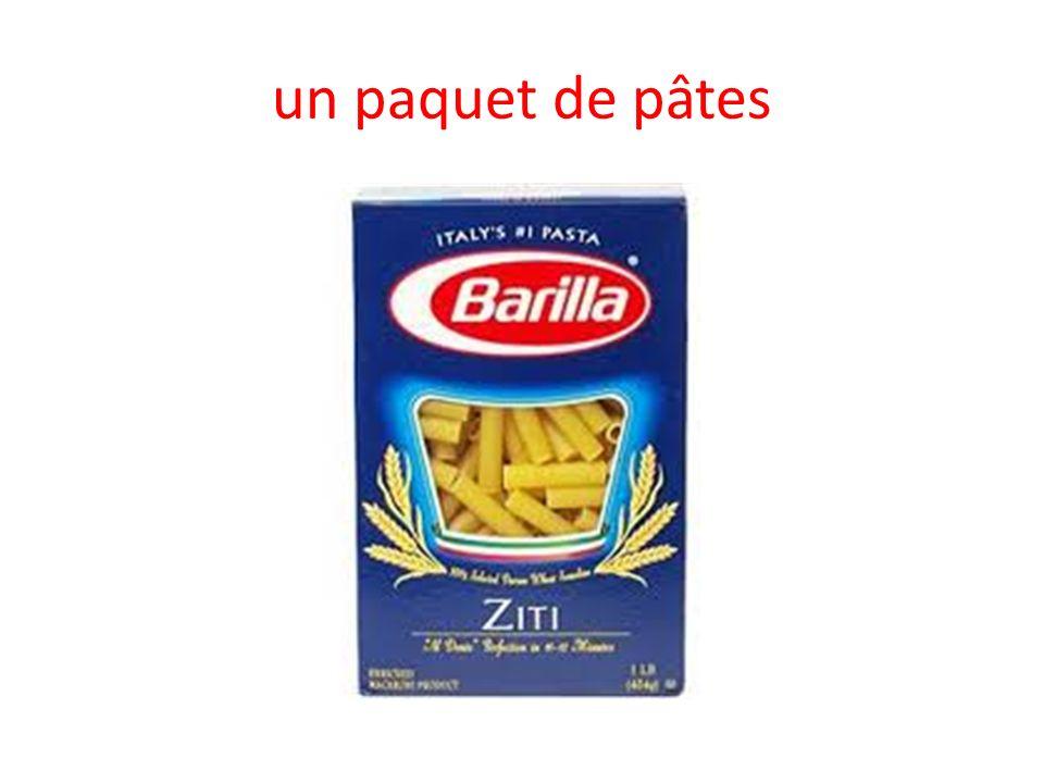 un paquet de pâtes