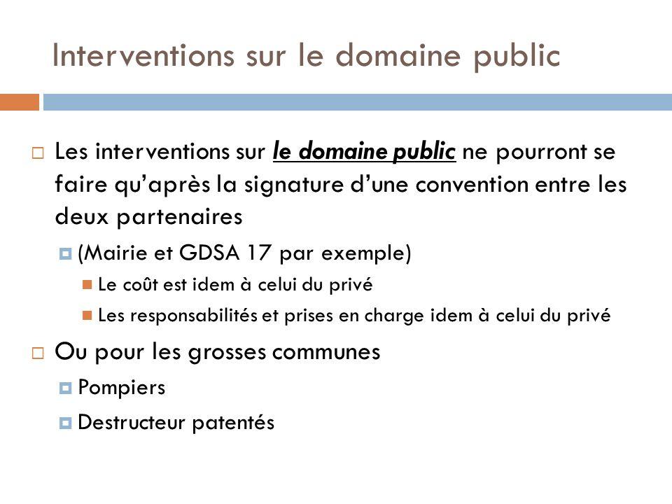 Interventions sur le domaine public Les interventions sur le domaine public ne pourront se faire quaprès la signature dune convention entre les deux p