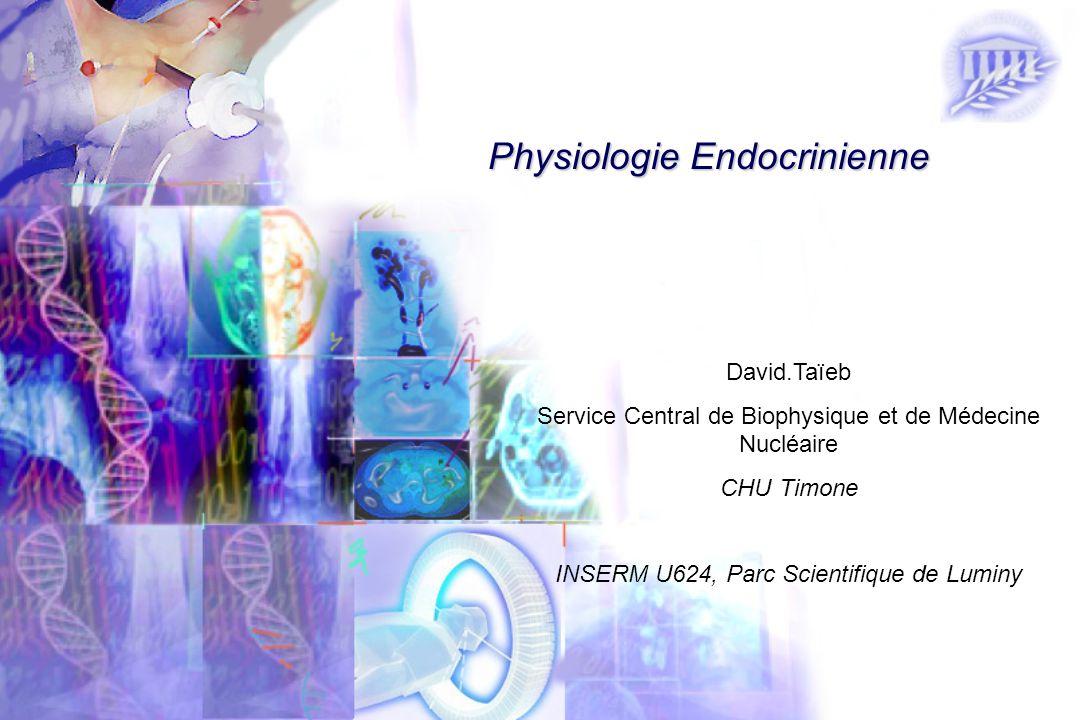 David.Taïeb Service Central de Biophysique et de Médecine Nucléaire CHU Timone INSERM U624, Parc Scientifique de Luminy Physiologie Endocrinienne