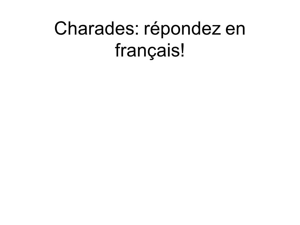 Charades: répondez en français!