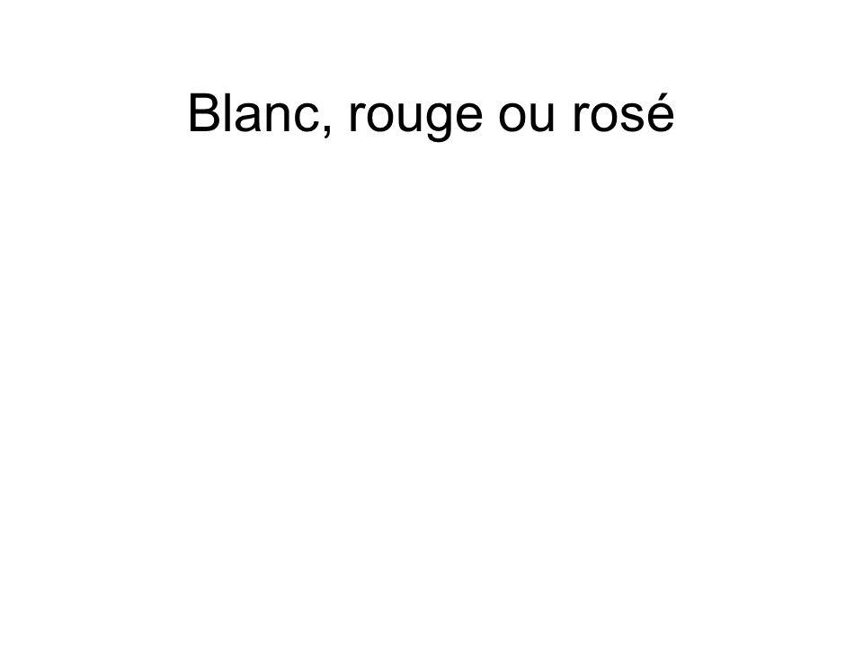 Blanc, rouge ou rosé