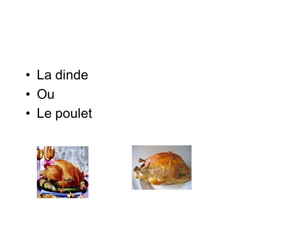 La dinde Ou Le poulet