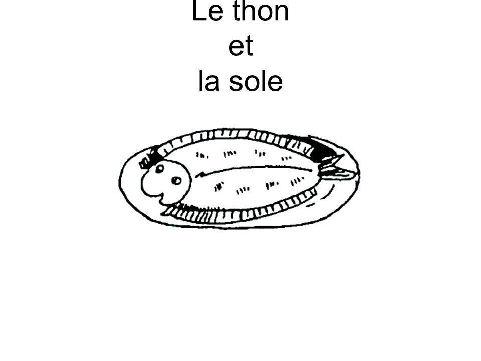 Le thon et la sole