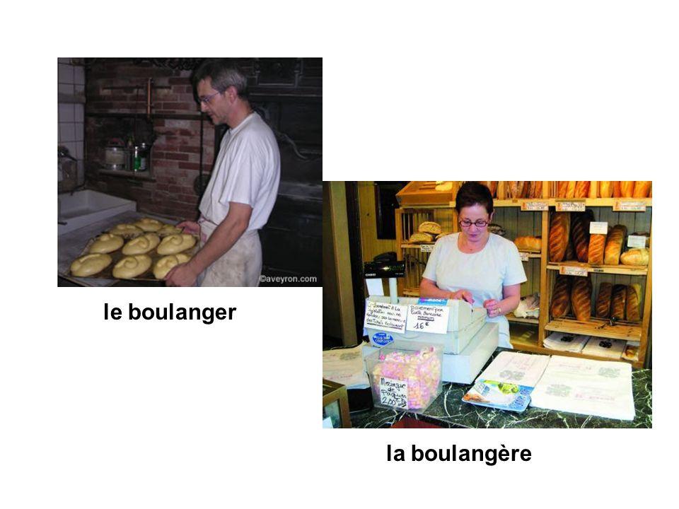 la boulangère le boulanger