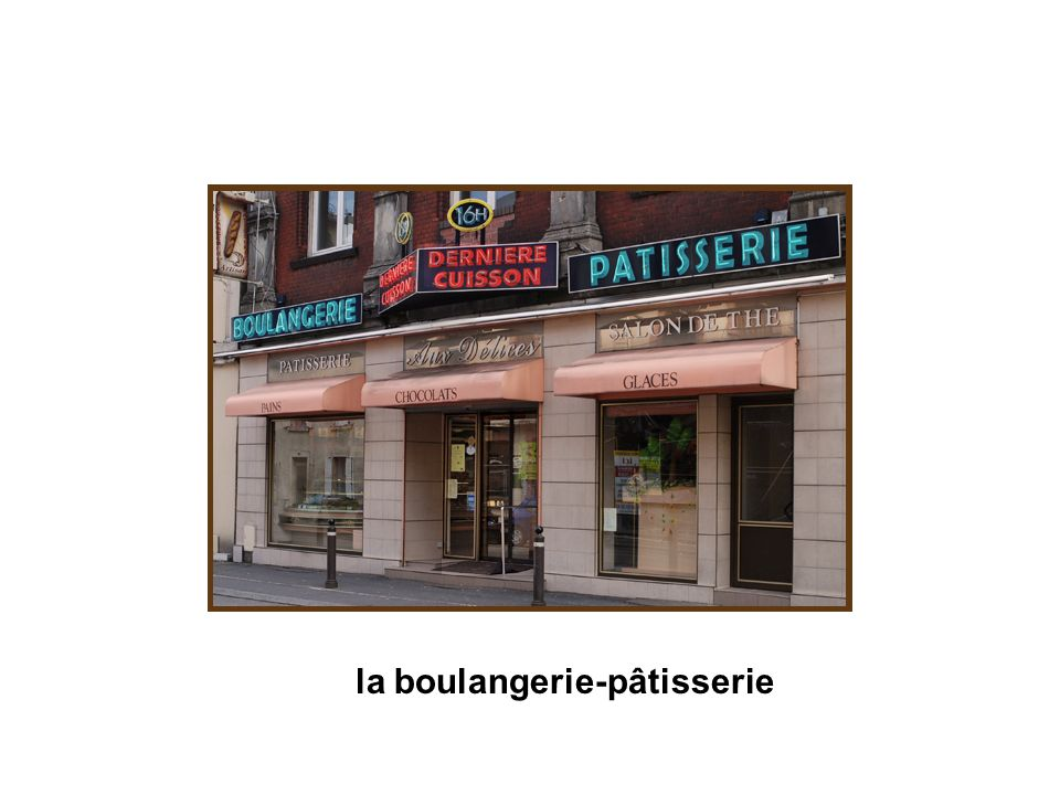 la boulangerie-pâtisserie