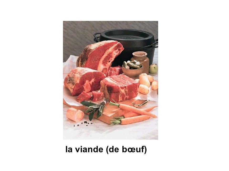 la viande (de bœuf)