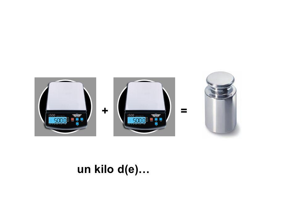 += un kilo d(e)…