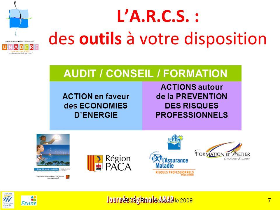 Membre du réseau associatif ARCS - Rentrée sociale 20097 LA.R.C.S.