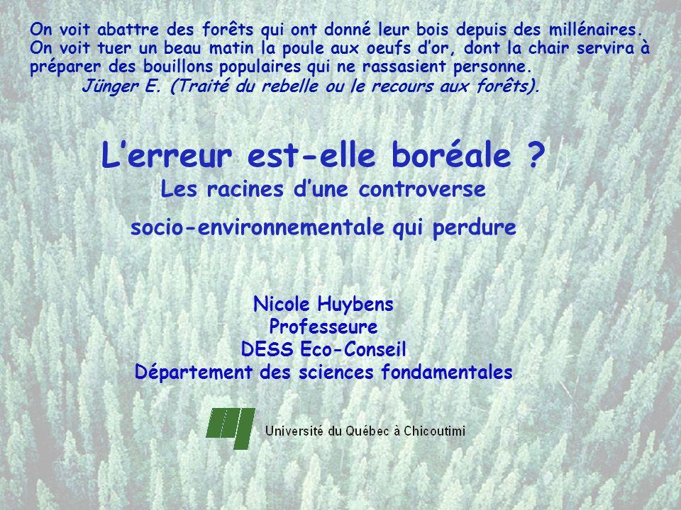septembre 2008Nicole Huybens - UQAC - OIFQ 12 Les symboles Un élément du réel objectivable (une forêt) révèle ou explique un « mystère » intangible, issu de lintuition des hommes (la régulation parfaite).