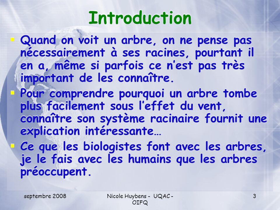 septembre 2008Nicole Huybens - UQAC - OIFQ 4 Une controverse qui évolue à peine Les sentiments sont « irrationnels », les prises de positions sont motivées par un manque dinformation ou des informations fausses, orientées, manipulées .