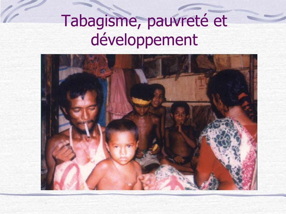 Tabagisme, pauvreté et développement