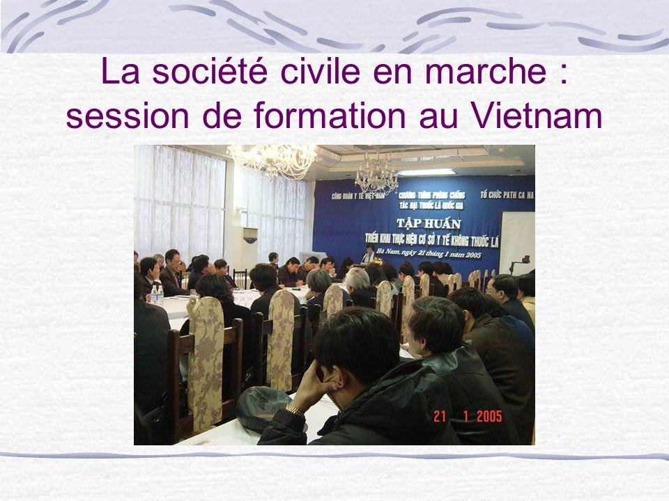 La société civile en marche : session de formation au Vietnam