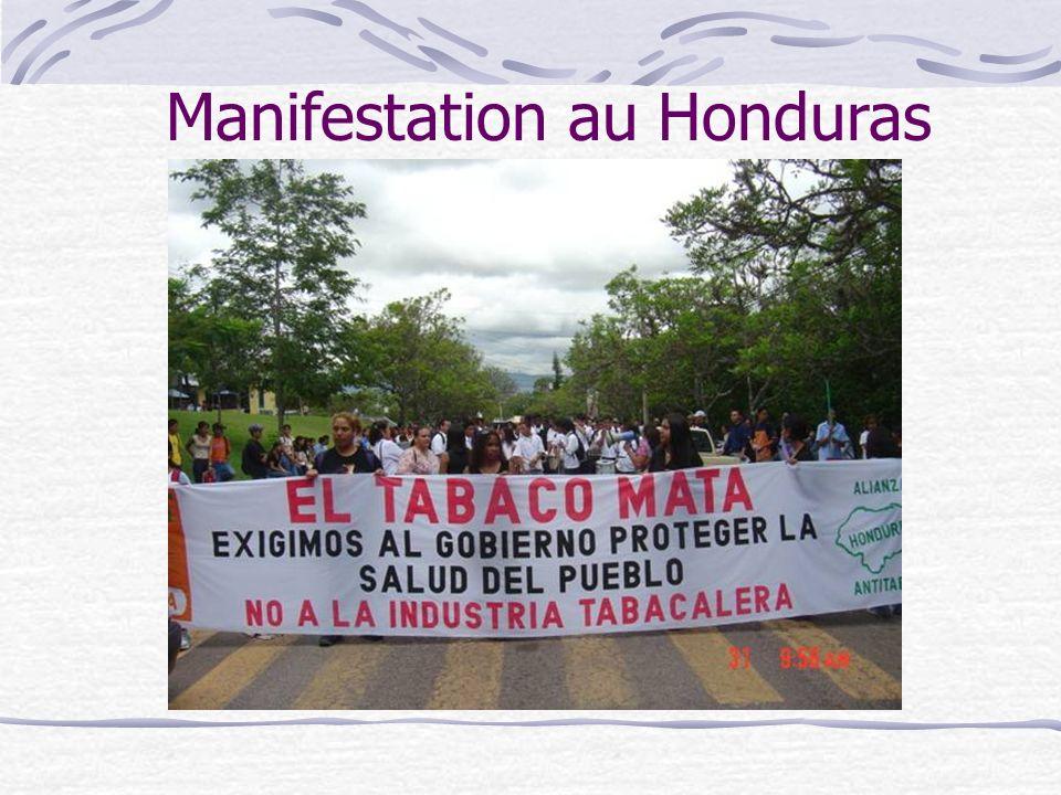 Manifestation au Honduras