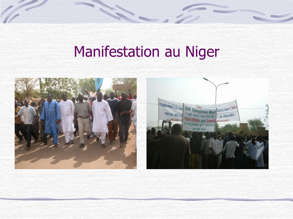 Manifestation au Niger