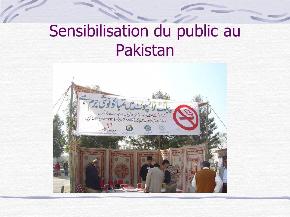Sensibilisation du public au Pakistan