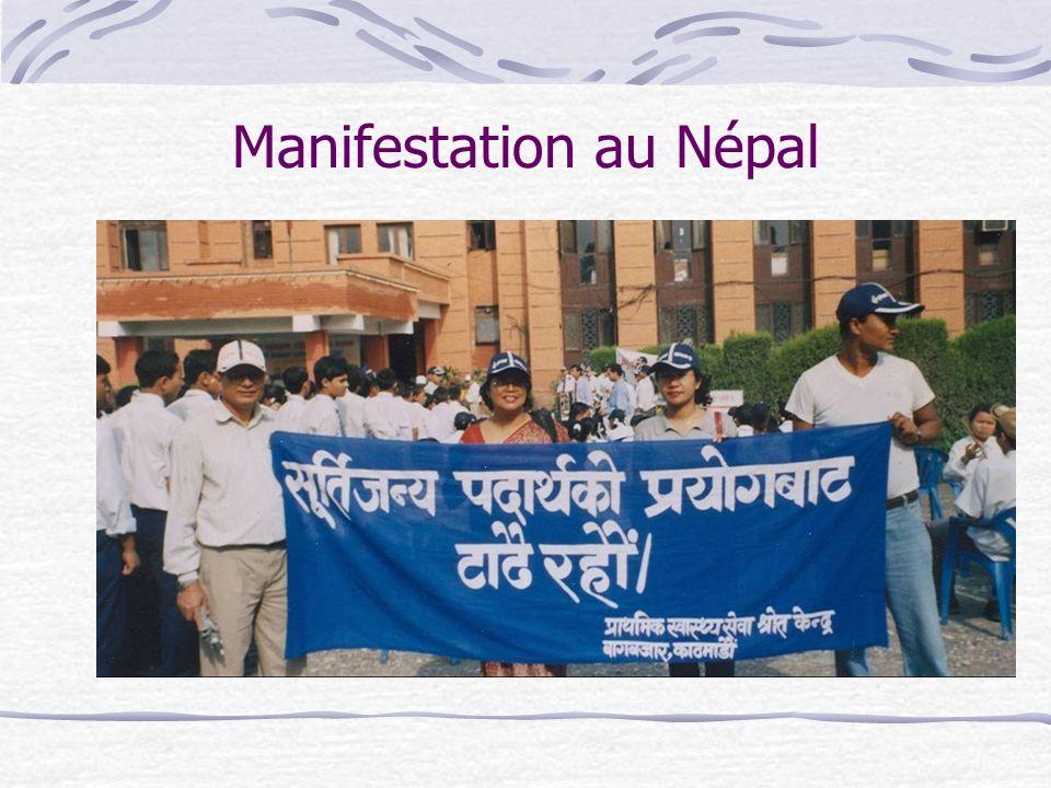 Manifestation au Népal