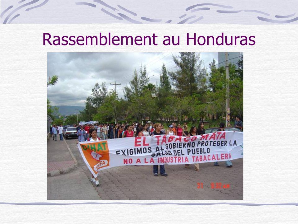 Rassemblement au Honduras