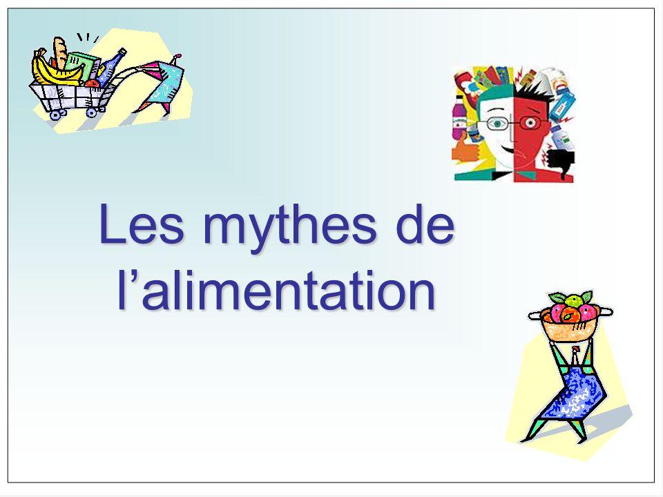 Les mythes de lalimentation