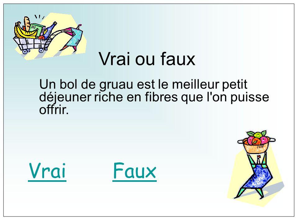 FAUX Le gruau est nutritif bien sûr mais il n est pas si riche en fibres qu on le croit.