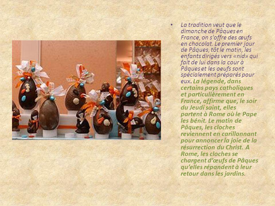 Les traditions de Pâques ne sont pas toutes identiques dans le monde et en Europe. En France la tradition veut que les cloches sonnent chaque jour de